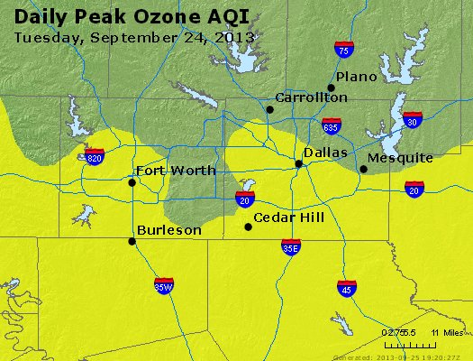Peak Ozone (8-hour) - http://files.airnowtech.org/airnow/2013/20130924/peak_o3_dallas_tx.jpg