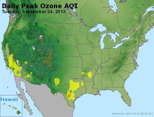 Peak Ozone (8-hour) - http://files.airnowtech.org/airnow/2013/20130924/peak_o3_usa.jpg