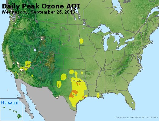 Peak Ozone (8-hour) - http://files.airnowtech.org/airnow/2013/20130925/peak_o3_usa.jpg