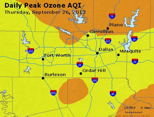 Peak Ozone (8-hour) - http://files.airnowtech.org/airnow/2013/20130926/peak_o3_dallas_tx.jpg