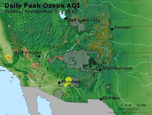 Peak Ozone (8-hour) - http://files.airnowtech.org/airnow/2013/20130927/peak_o3_co_ut_az_nm.jpg