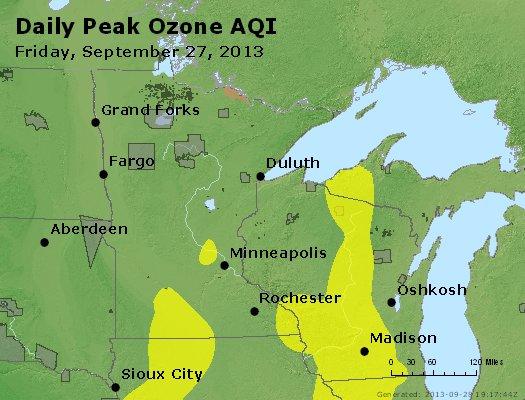 Peak Ozone (8-hour) - http://files.airnowtech.org/airnow/2013/20130927/peak_o3_mn_wi.jpg