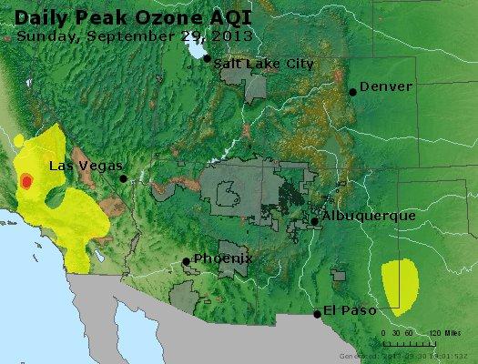 Peak Ozone (8-hour) - http://files.airnowtech.org/airnow/2013/20130929/peak_o3_co_ut_az_nm.jpg