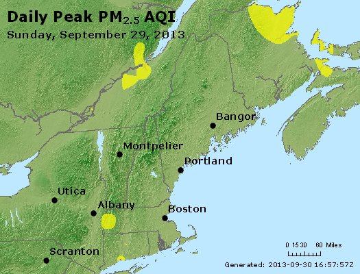 Peak Particles PM<sub>2.5</sub> (24-hour) - http://files.airnowtech.org/airnow/2013/20130929/peak_pm25_vt_nh_ma_ct_ri_me.jpg
