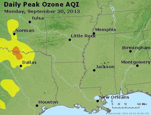 Peak Ozone (8-hour) - http://files.airnowtech.org/airnow/2013/20130930/peak_o3_ar_la_ms.jpg
