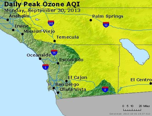 Peak Ozone (8-hour) - http://files.airnowtech.org/airnow/2013/20130930/peak_o3_sandiego_ca.jpg