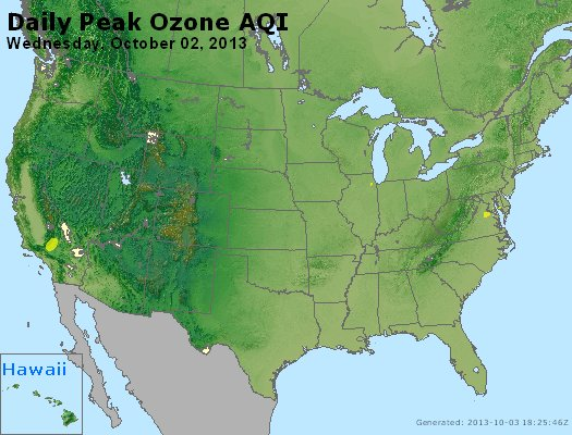 Peak Ozone (8-hour) - http://files.airnowtech.org/airnow/2013/20131002/peak_o3_usa.jpg