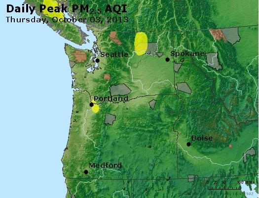 Peak Particles PM<sub>2.5</sub> (24-hour) - http://files.airnowtech.org/airnow/2013/20131003/peak_pm25_wa_or.jpg
