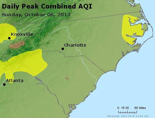 Peak AQI - http://files.airnowtech.org/airnow/2013/20131006/peak_aqi_nc_sc.jpg