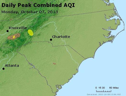 Peak AQI - http://files.airnowtech.org/airnow/2013/20131007/peak_aqi_nc_sc.jpg