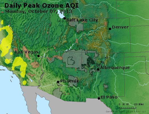 Peak Ozone (8-hour) - http://files.airnowtech.org/airnow/2013/20131007/peak_o3_co_ut_az_nm.jpg
