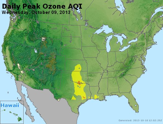 Peak Ozone (8-hour) - http://files.airnowtech.org/airnow/2013/20131009/peak_o3_usa.jpg