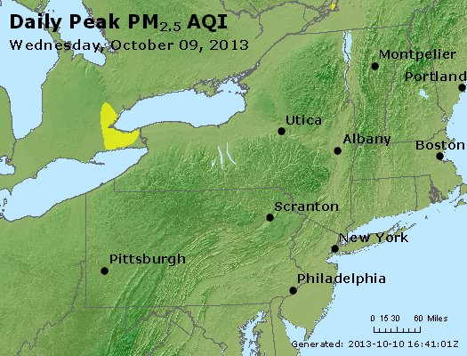 Peak Particles PM<sub>2.5</sub> (24-hour) - http://files.airnowtech.org/airnow/2013/20131009/peak_pm25_ny_pa_nj.jpg