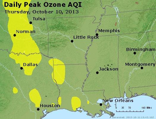 Peak Ozone (8-hour) - http://files.airnowtech.org/airnow/2013/20131010/peak_o3_ar_la_ms.jpg