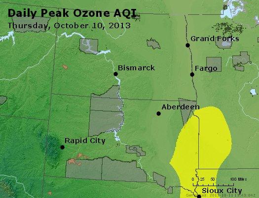 Peak Ozone (8-hour) - http://files.airnowtech.org/airnow/2013/20131010/peak_o3_nd_sd.jpg