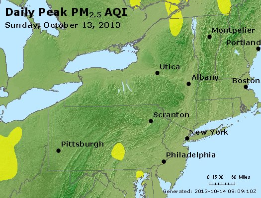 Peak Particles PM<sub>2.5</sub> (24-hour) - http://files.airnowtech.org/airnow/2013/20131013/peak_pm25_ny_pa_nj.jpg