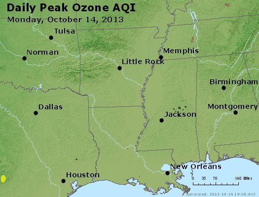 Peak Ozone (8-hour) - http://files.airnowtech.org/airnow/2013/20131014/peak_o3_ar_la_ms.jpg