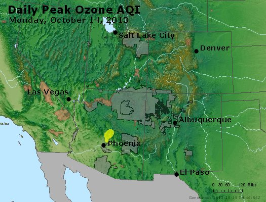 Peak Ozone (8-hour) - http://files.airnowtech.org/airnow/2013/20131014/peak_o3_co_ut_az_nm.jpg