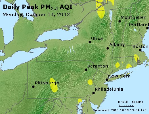Peak Particles PM<sub>2.5</sub> (24-hour) - http://files.airnowtech.org/airnow/2013/20131014/peak_pm25_ny_pa_nj.jpg