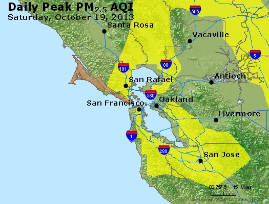 Peak Particles PM<sub>2.5</sub> (24-hour) - http://files.airnowtech.org/airnow/2013/20131019/peak_pm25_sanfrancisco_ca.jpg