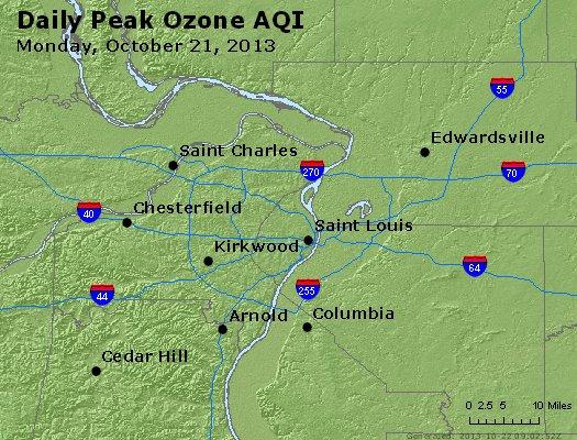 Peak Ozone (8-hour) - http://files.airnowtech.org/airnow/2013/20131021/peak_o3_stlouis_mo.jpg