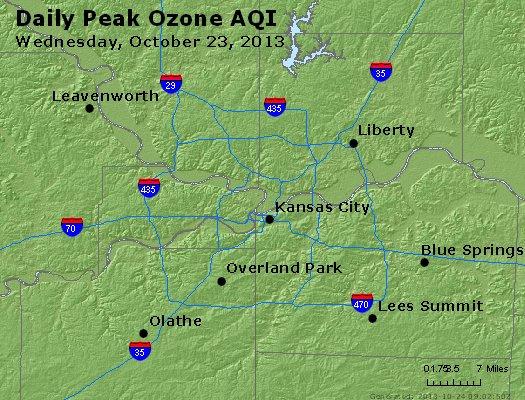 Peak Ozone (8-hour) - http://files.airnowtech.org/airnow/2013/20131023/peak_o3_kansascity_mo.jpg