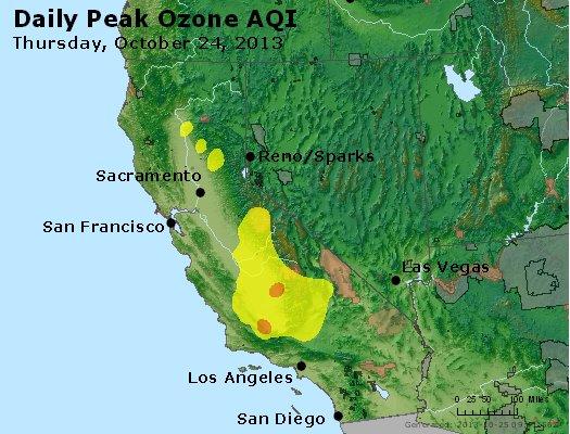 Peak Ozone (8-hour) - http://files.airnowtech.org/airnow/2013/20131024/peak_o3_ca_nv.jpg