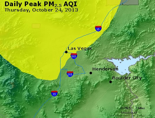 Peak Particles PM<sub>2.5</sub> (24-hour) - http://files.airnowtech.org/airnow/2013/20131024/peak_pm25_lasvegas_nv.jpg
