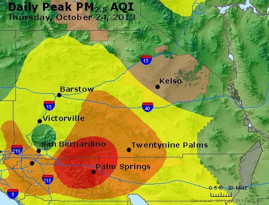 Peak Particles PM<sub>2.5</sub> (24-hour) - http://files.airnowtech.org/airnow/2013/20131024/peak_pm25_sanbernardino_ca.jpg
