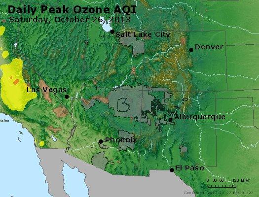 Peak Ozone (8-hour) - http://files.airnowtech.org/airnow/2013/20131026/peak_o3_co_ut_az_nm.jpg