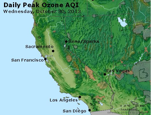Peak Ozone (8-hour) - http://files.airnowtech.org/airnow/2013/20131030/peak_o3_ca_nv.jpg