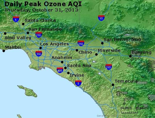 Peak Ozone (8-hour) - http://files.airnowtech.org/airnow/2013/20131031/peak_o3_losangeles_ca.jpg