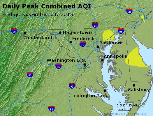 Peak AQI - http://files.airnowtech.org/airnow/2013/20131102/peak_aqi_maryland.jpg