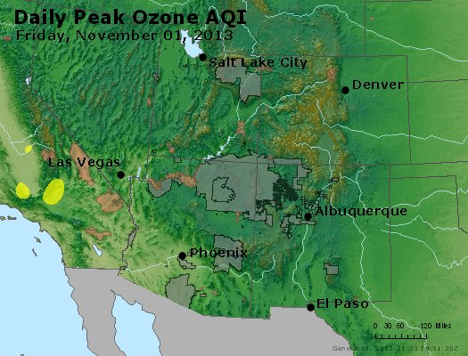 Peak Ozone (8-hour) - http://files.airnowtech.org/airnow/2013/20131102/peak_o3_co_ut_az_nm.jpg