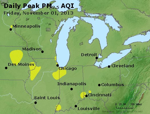 Peak Particles PM<sub>2.5</sub> (24-hour) - http://files.airnowtech.org/airnow/2013/20131102/peak_pm25_mi_in_oh.jpg
