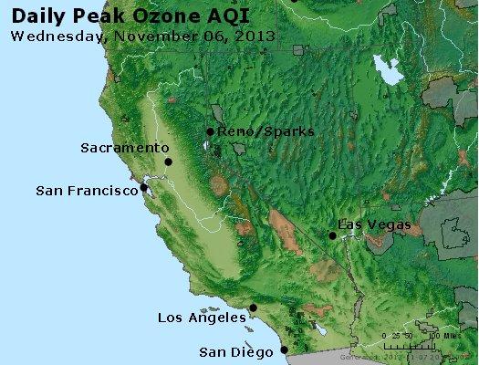 Peak Ozone (8-hour) - http://files.airnowtech.org/airnow/2013/20131106/peak_o3_ca_nv.jpg