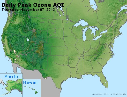 Peak Ozone (8-hour) - http://files.airnowtech.org/airnow/2013/20131107/peak_o3_usa.jpg