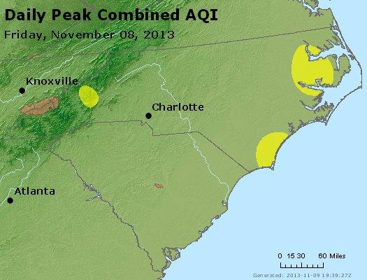 Peak AQI - http://files.airnowtech.org/airnow/2013/20131108/peak_aqi_nc_sc.jpg