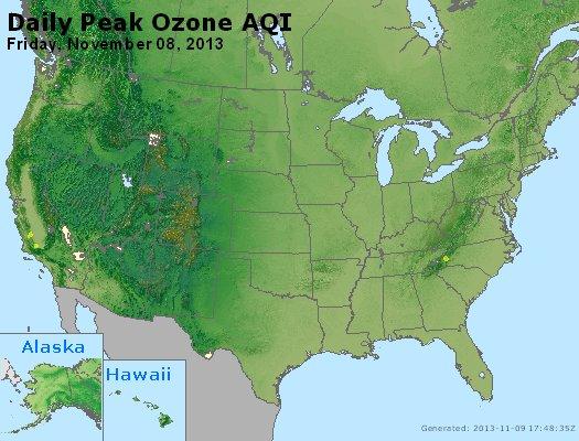 Peak Ozone (8-hour) - http://files.airnowtech.org/airnow/2013/20131108/peak_o3_usa.jpg