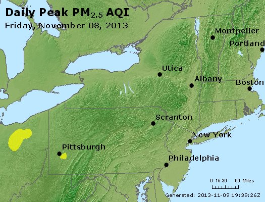 Peak Particles PM<sub>2.5</sub> (24-hour) - http://files.airnowtech.org/airnow/2013/20131108/peak_pm25_ny_pa_nj.jpg