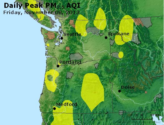 Peak Particles PM<sub>2.5</sub> (24-hour) - http://files.airnowtech.org/airnow/2013/20131108/peak_pm25_wa_or.jpg