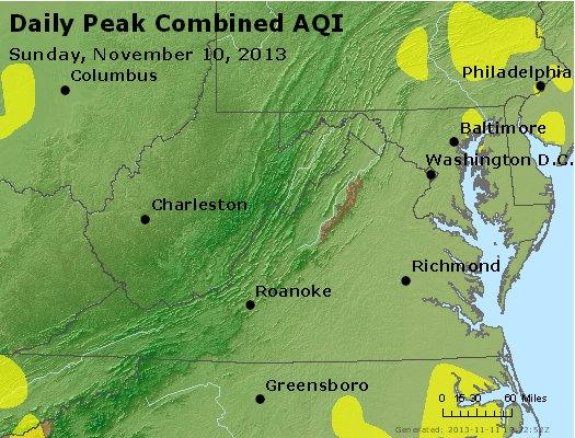 Peak AQI - http://files.airnowtech.org/airnow/2013/20131110/peak_aqi_va_wv_md_de_dc.jpg