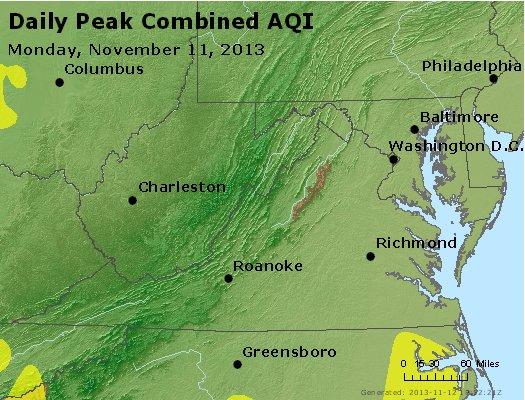 Peak AQI - http://files.airnowtech.org/airnow/2013/20131111/peak_aqi_va_wv_md_de_dc.jpg