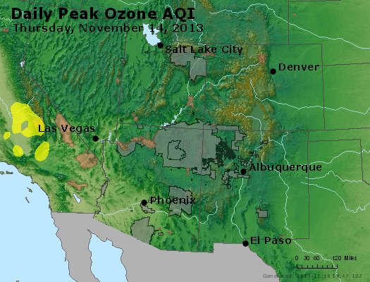Peak Ozone (8-hour) - http://files.airnowtech.org/airnow/2013/20131114/peak_o3_co_ut_az_nm.jpg