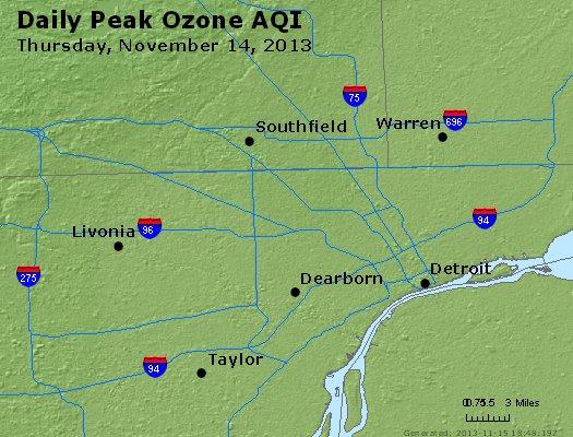 Peak Ozone (8-hour) - http://files.airnowtech.org/airnow/2013/20131114/peak_o3_detroit_mi.jpg