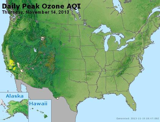 Peak Ozone (8-hour) - http://files.airnowtech.org/airnow/2013/20131114/peak_o3_usa.jpg