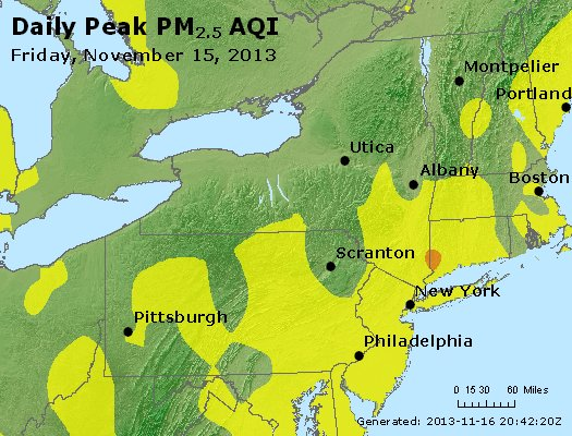 Peak Particles PM<sub>2.5</sub> (24-hour) - http://files.airnowtech.org/airnow/2013/20131115/peak_pm25_ny_pa_nj.jpg