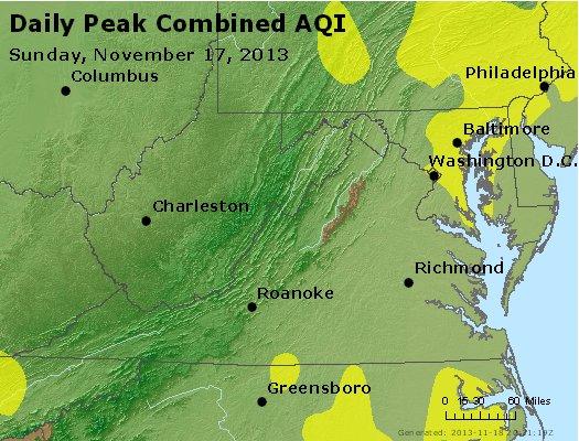 Peak AQI - http://files.airnowtech.org/airnow/2013/20131117/peak_aqi_va_wv_md_de_dc.jpg