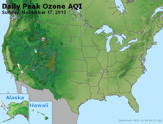 Peak Ozone (8-hour) - http://files.airnowtech.org/airnow/2013/20131117/peak_o3_usa.jpg