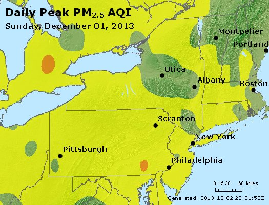 Peak Particles PM<sub>2.5</sub> (24-hour) - http://files.airnowtech.org/airnow/2013/20131201/peak_pm25_ny_pa_nj.jpg